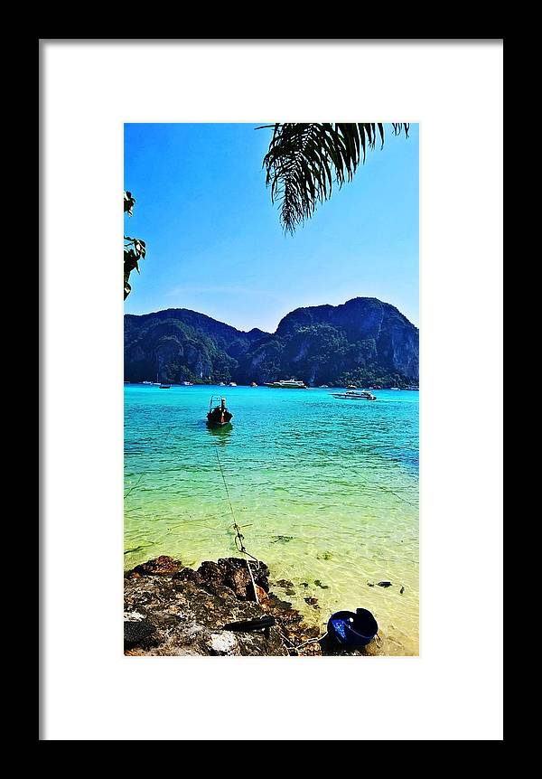 Boat Framed Print featuring the photograph Koh Phi Phi by Jeremy Egrd