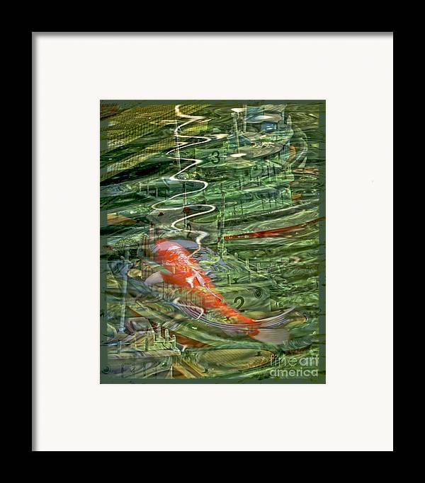 Koi Framed Print featuring the digital art Koi Boats by Chuck Brittenham