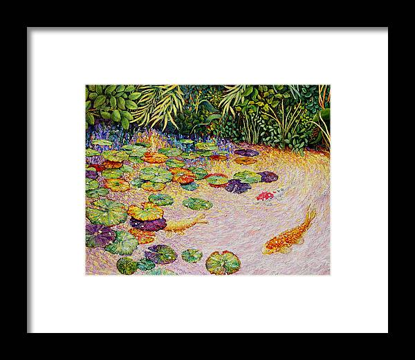Framed Print featuring the painting Koi by Paul Sierra