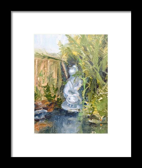 Still-life. Pond Koi Framed Print featuring the painting Koi Pond by Bryan Alexander