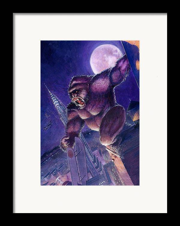 King Kong Framed Print featuring the painting Kong by Ken Meyer