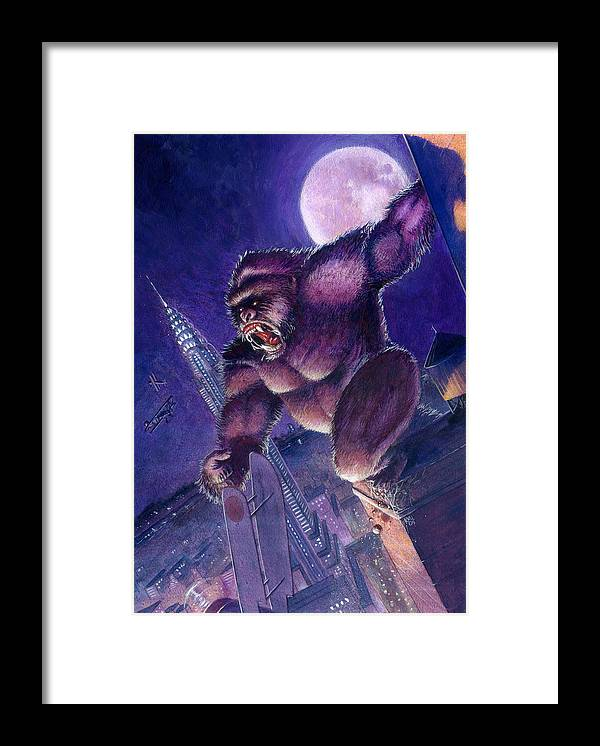 King Kong Framed Print featuring the painting Kong by Ken Meyer jr