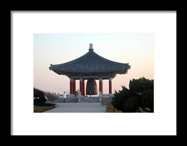 Bell Framed Print featuring the photograph Korean Friendship Bell 0559 by Edward Ruth