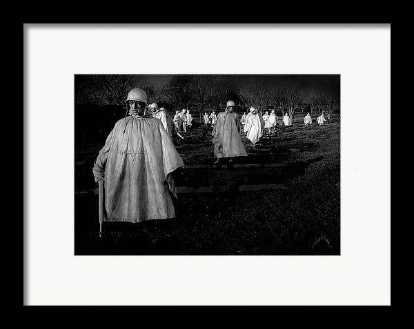 Washington Dc Framed Print featuring the photograph Korean War Memorial by Williams-Cairns Photography LLC