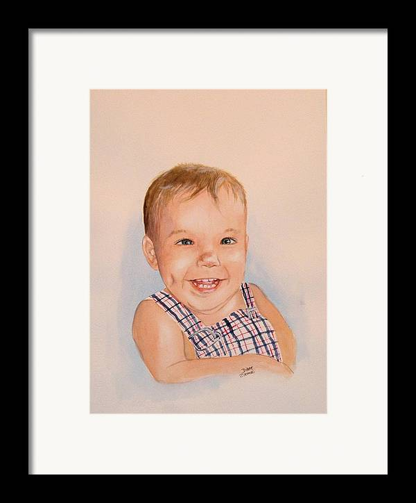 Framed Print featuring the painting Korey Newkirk by Diane Ziemski