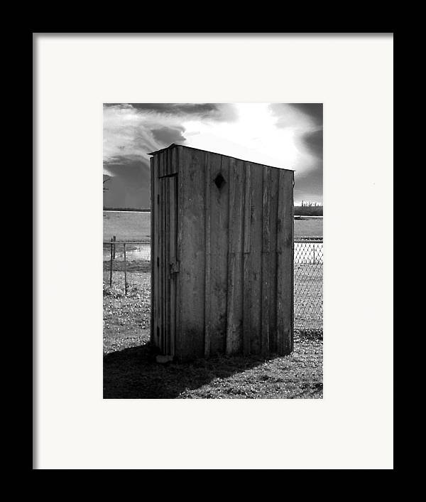 Ansel Adams Framed Print featuring the photograph Koyl Cemetery Outhouse5 by Curtis J Neeley Jr