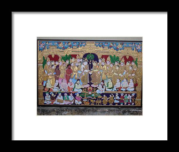 Framed Print featuring the painting Krishna Marriage by Sathasivam