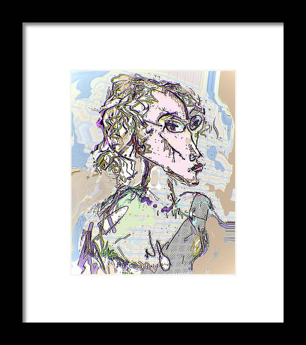 Life Drawing Framed Print featuring the digital art Kristine by Noredin Morgan