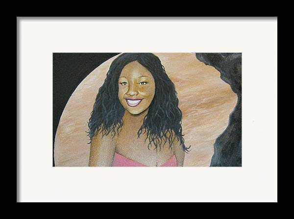 Portrait Framed Print featuring the painting Kristy Aphrodite Of Venus by Angelo Thomas
