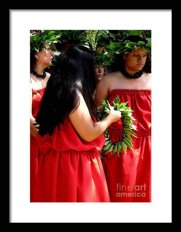 Hula Framed Print featuring the photograph Kukui Dancers by James Temple