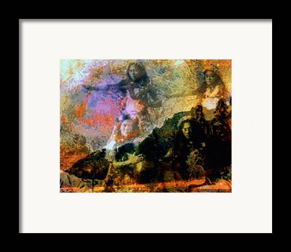 Rainbow Colors Digital Framed Print featuring the photograph Kupua Hula by Kenneth Grzesik