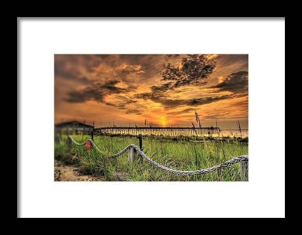 Sunrise Framed Print featuring the photograph Kure Beach Sunrise by Dan Smathers