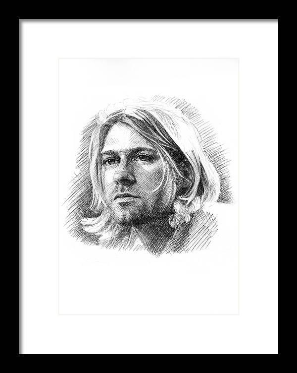 Kurt Cobain Framed Print by Jason Reisig