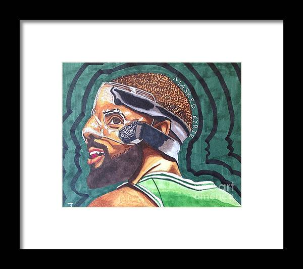 e395f0ab62a Kyrie Irving Drawing Framed Print by Tucker James