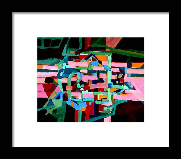 Abstract Framed Print featuring the painting L A Landscape by Paul Freidin