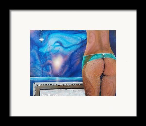 Nebula Caribe Framed Print featuring the painting La Bailarina by Angel Ortiz