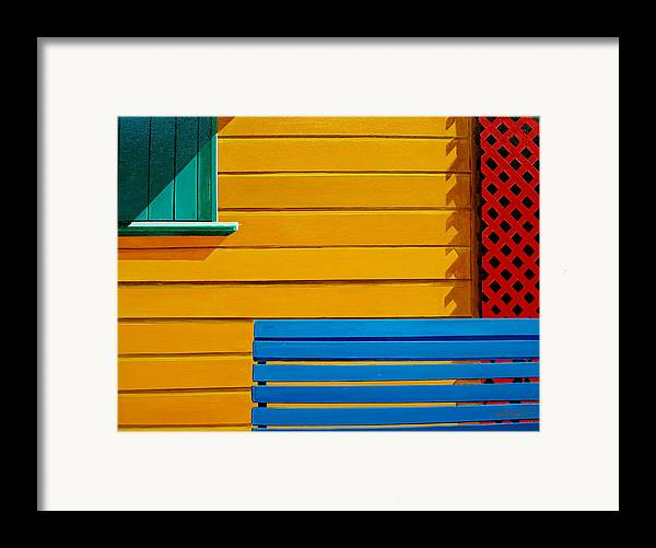 Architecture Framed Print featuring the painting La Boca Street Scene 33 by JoeRay Kelley