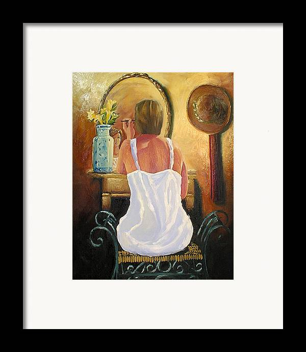 People Framed Print featuring the painting La Coqueta by Arturo Vilmenay