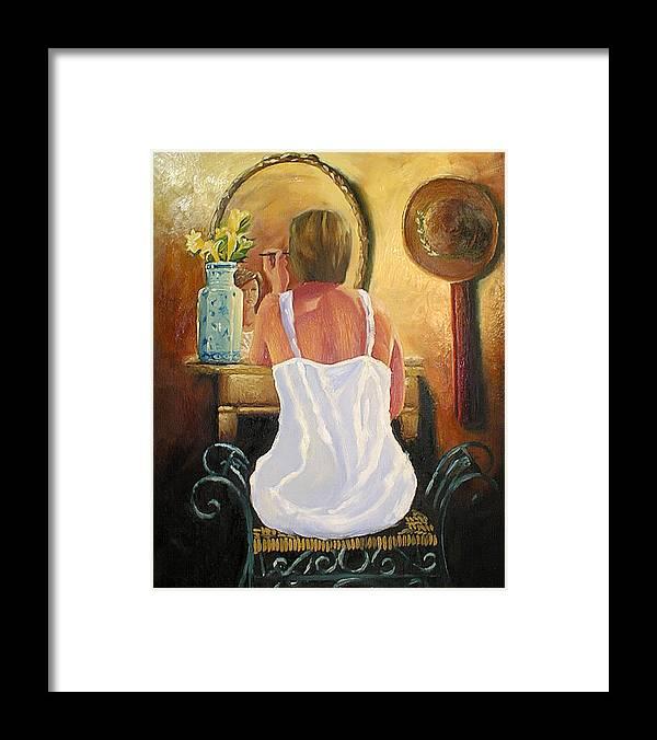 People Framed Print featuring the painting La Coqueta by Arturo Vilmenay