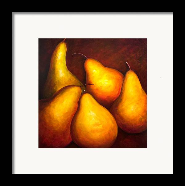 Still Life Yellow Framed Print featuring the painting La Familia by Shannon Grissom