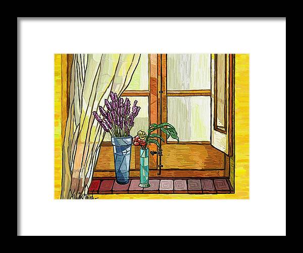 Still Life Framed Print featuring the painting La Finestra by Xavier Ferrer