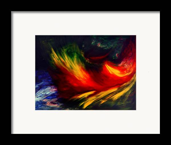 Abstract Framed Print featuring the painting La Fleur Du Paradis by Dominique Boutaud
