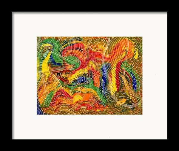 Abstract Framed Print featuring the painting La Fleur Eternelle by Dominique Boutaud