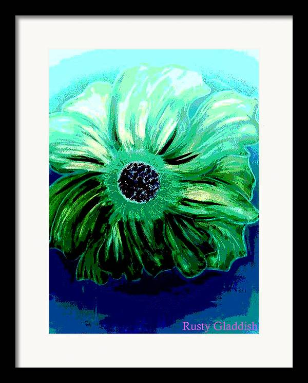 Design Framed Print featuring the painting La Flora by Rusty Gladdish