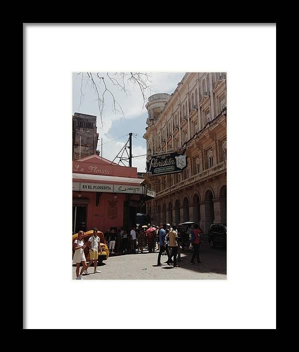 Old Havana Framed Print featuring the photograph La Floridita by Eloviano Maya