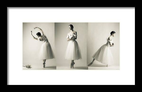 Giselle Framed Print featuring the photograph La Giselle - A Tryptich by Nikolay Krusser