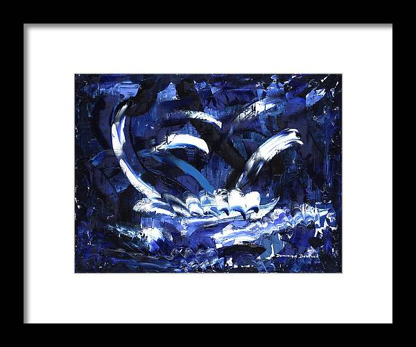 Abstract Framed Print featuring the painting La Grande Traversee by Dominique Boutaud