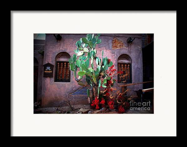 Hacienda Framed Print featuring the photograph La Hacienda In Old Tuscon Az by Susanne Van Hulst