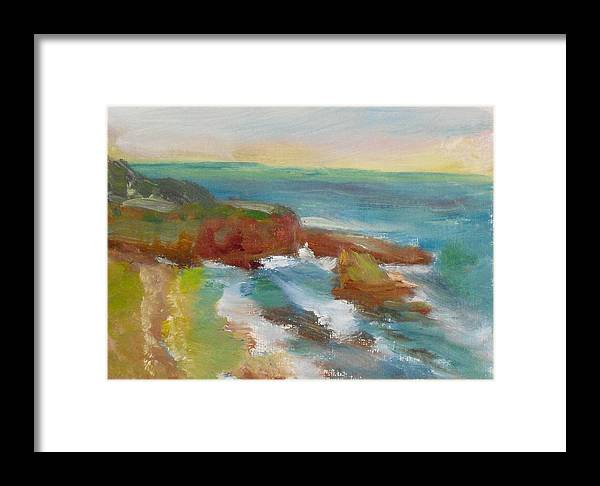 100 Paintings Framed Print featuring the painting La Jolla Cove 019 by Jeremy McKay