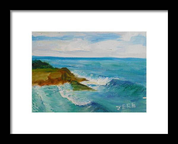 100 Paintings Framed Print featuring the painting La Jolla Cove 029 by Jeremy McKay
