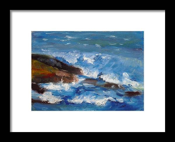 100 Paintings Framed Print featuring the painting La Jolla Cove 035 by Jeremy McKay