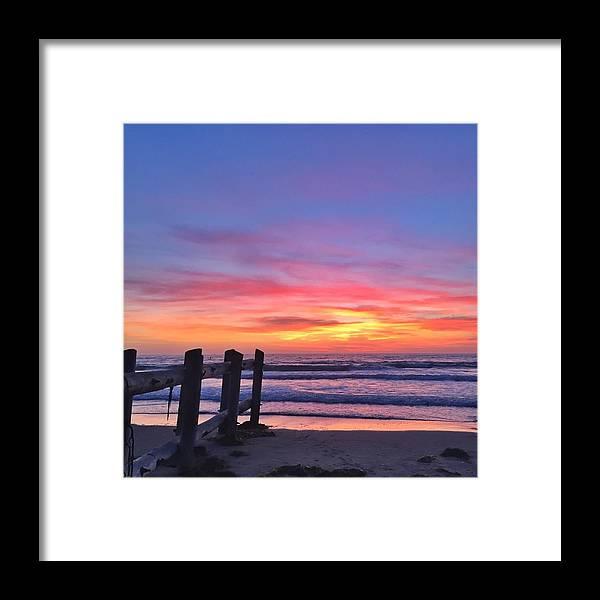 La Jolla Framed Print featuring the photograph La Jolla Shores by Caroline Lomeli