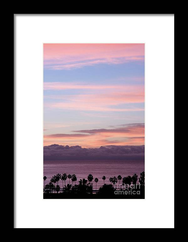 Nature Framed Print featuring the photograph La Jolla Shores In California by Julia Hiebaum
