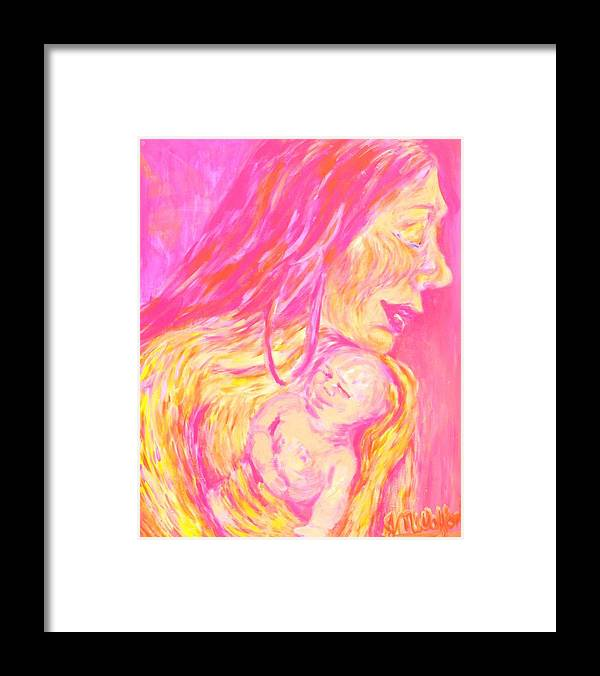 Framed Print featuring the painting La Madona by Jenni Walford