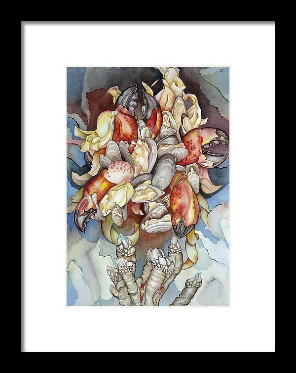 Sealife Framed Print featuring the painting La Mer En Rouge by Liduine Bekman