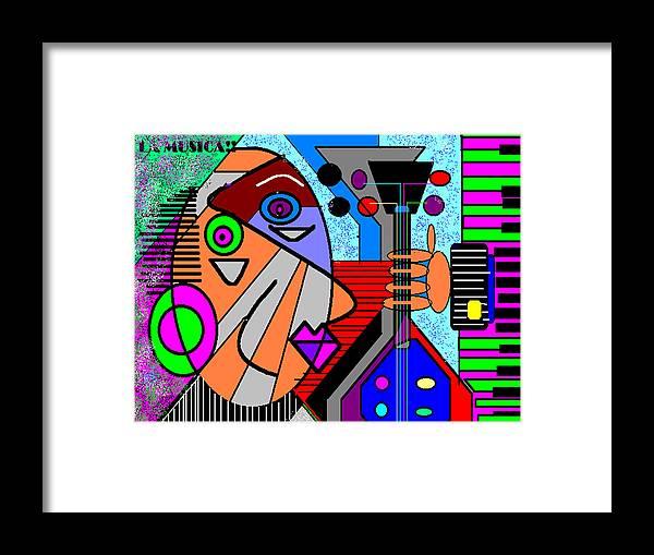 Music Framed Print featuring the digital art La Musica by George Pasini