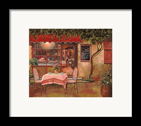 Caffe Framed Print featuring the painting La Palette by Guido Borelli