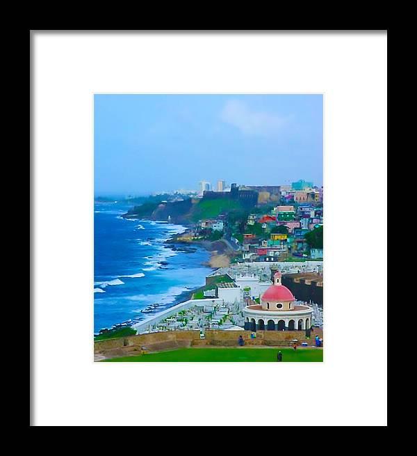 San Juan Framed Print featuring the photograph La Perla In Old San Juan by Craig David Morrison