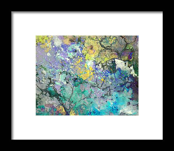 Landscape Painting Framed Print featuring the painting La Provence 08 by Miki De Goodaboom
