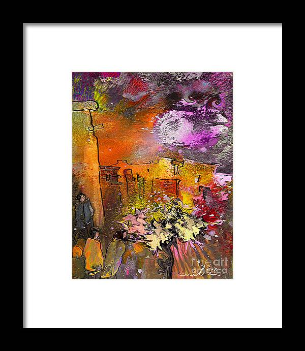 Landscape Painting Framed Print featuring the painting La Provence 14 by Miki De Goodaboom
