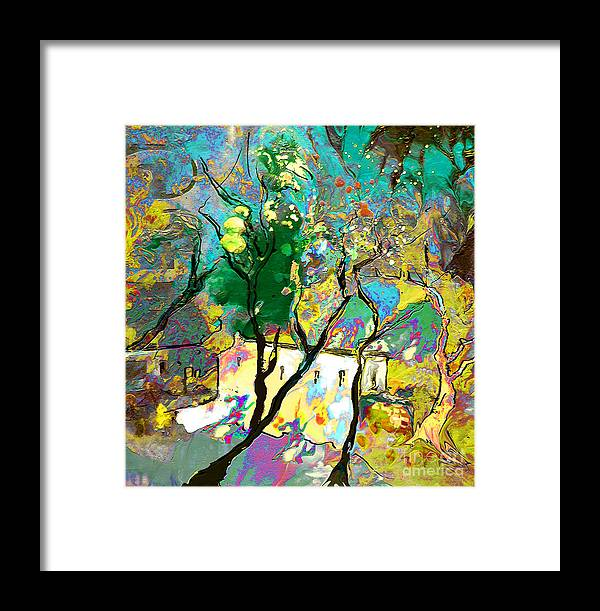 Miki Framed Print featuring the painting La Provence 16 by Miki De Goodaboom