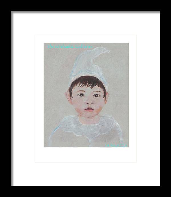 Child Framed Print featuring the painting La Ragazza by Michela Akers