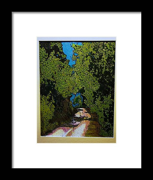 Watercolor Framed Print featuring the mixed media La Romita Road by Tom Herrin