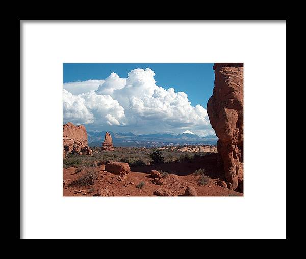 Mountains Framed Print featuring the photograph La Sal Mountains by Janet Hall