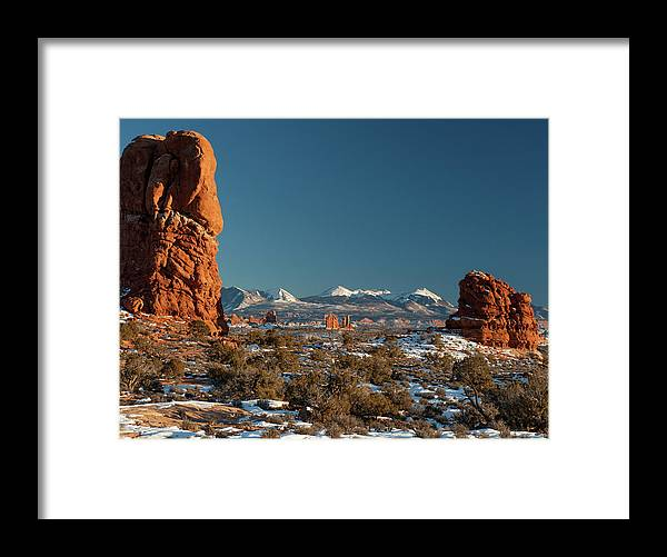 Utah Framed Print featuring the photograph La Sal Mountains by Ken Barber