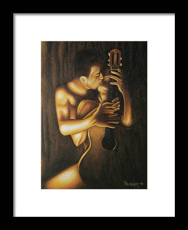 Acrylic Framed Print featuring the painting La Serenata by Arturo Vilmenay
